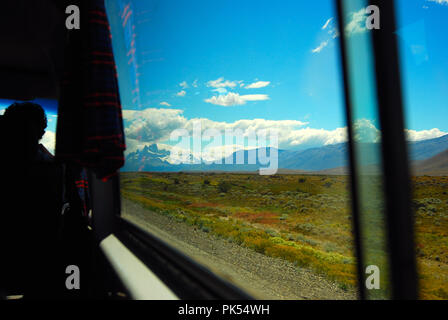 Traveling in Patagonia South America - Stock Image