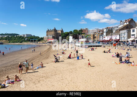 South Bay Beach, Scarborough, North Yorkshire, England, United Kingdom - Stock Image