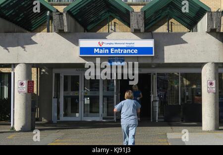 Langley Memorial Hospital B.C. Canada. - Stock Image
