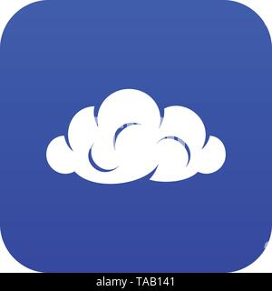 Information cloud icon blue vector - Stock Image