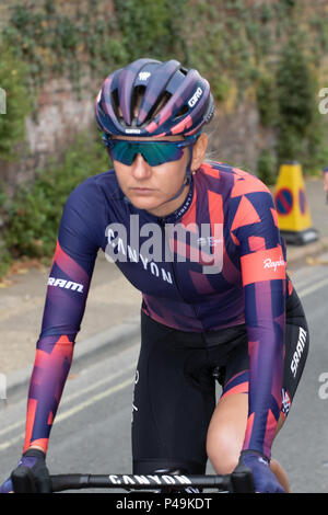 Canyon//SRAM riding to the start of the Ovo Womens' Tour - Stock Image