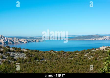 Kroatien, Kvarner Bucht, Küste bei Jablanac - Stock Image