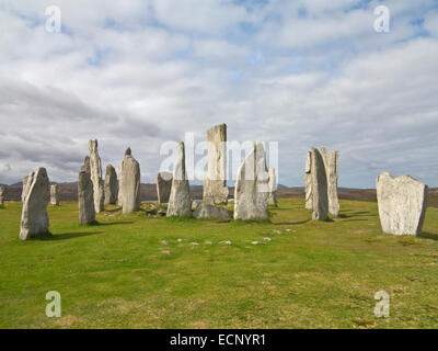 Calanais Standing Stones at Callanish a Bronze Age stone circle on Isle of Lewis, Outer Hebrides, Scotland - Stock Image