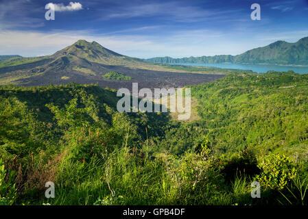 Monumental Kintamani Volcano of Bali, Indonesia - Stock Image