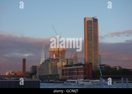 London Skyline at Sunset, UK - Stock Image