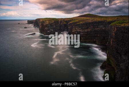 Irish coast line with the cliffs - Ireland - Stock Image