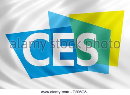 CES Consumer Electronics Show logo - Stock Image