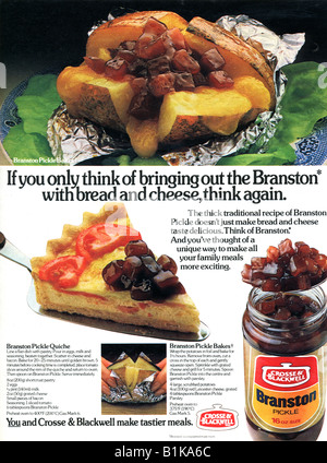 1980 advertisement for Crosse & Blackwell Branston Pickle FOR EDITORIAL USE ONLY - Stock Image