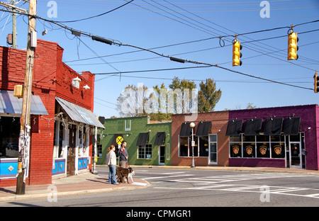 Charlotte, North Carolina, NC. NoDa, North of Davidson, historic art district. - Stock Image