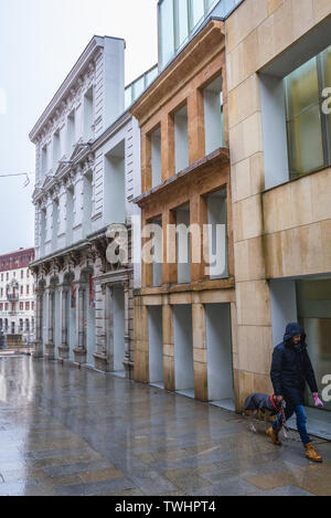 Facade of Museum of Fine Arts of Asturias in Oviedo in Asturias region, Spain - Stock Image