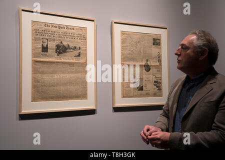 """Paul Salmons, curator of """"Auschwitz. Not long ago. Not far away,"""" an exhibition at the Museum of Jewish Heritage in Manhattan, New York City. - Stock Image"""
