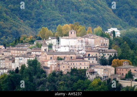 Amandola ,beautiful small,historic hill town in Le Marche ,the Marches,Italy - Stock Image
