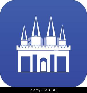 Kingdom palace icon digital blue - Stock Image