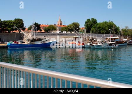 Harbor at Zadar Croatia Hrvatska - Stock Image
