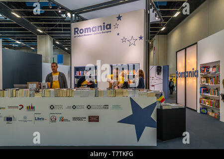 Turin, Italy. 09th May, 2019. Italy Piedmont Turin Lingotto fair - International Book Fair in Turin - Stand Romania Credit: Realy Easy Star/Alamy Live News - Stock Image