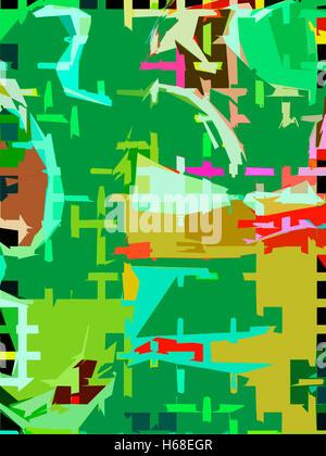 Nitty Gritty. Original acrylic painting digitally adjusted . - Stock Image