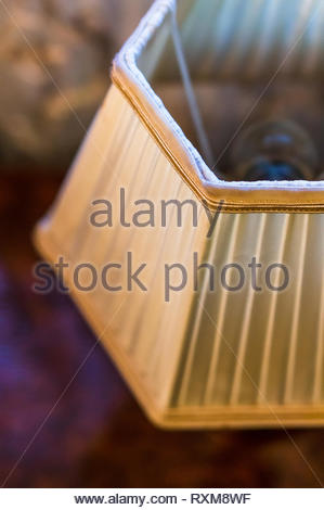 Close up of classic lamp in soft focus background. - Stock Image