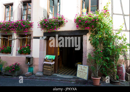 Alsace finest villages, Alsace is home to charming villages. Finest Detours in France in picturesque locations. Alsace is also home to the wine route. - Stock Image
