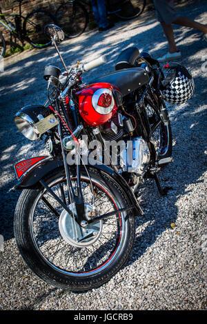 Historic italian motorcycle Gilera 250 Nettuno from 1949 year. - Stock Image