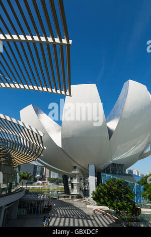 Singapore Art Science Museum, Marina Bay - Stock Image