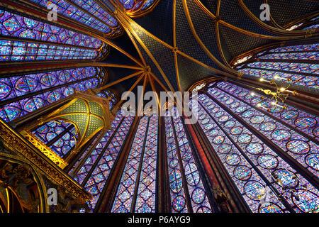 Europe, France, la Sainte Chapelle in Paris. - Stock Image
