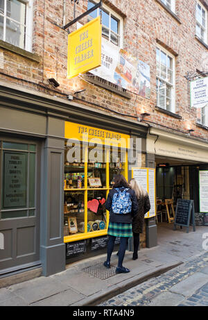 The Cheese Trader shop York North Yorkshire England UK United Kingdom GB Great Britain - Stock Image