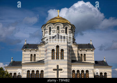 St. Vladimir's Cathedral in Sevastopol. Historical and archaeological reserve 'Tauric Chersonesos' - Stock Image