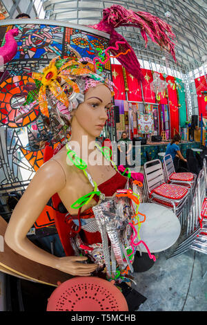 Colorful funky Safety Harbor Art and Music Center  or SHAMC in Safety Harbor Florida - Stock Image