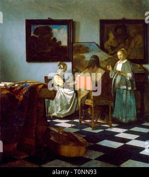 Johannes Vermeer, The Concert, c. 1663-1666 - Stock Image