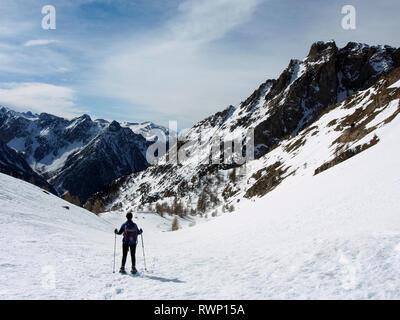 Dent de ratier and Col de Fontouse near Arvieux, Parc regional du Queyras, French Alps - Stock Image