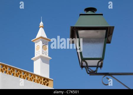 Portugal, Algarve, Alte, Lantern & Chimney - Stock Image