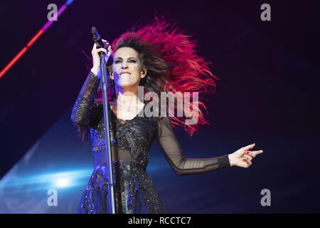 Spanish singer Malu performs at the WiZink Center  Featuring: Malu Where: Madrid, Spain When: 14 Dec 2018 Credit: Oscar Gonzalez/WENN.com - Stock Image