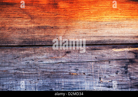 wooden panels on side of wall - Stock Image