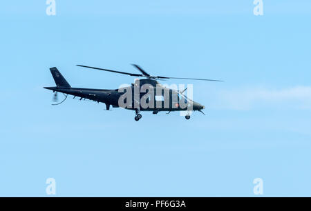 Belgian Armed Forces Air Component Agusta A109 helicopter at Eastbouurne Airshow 2018 - Stock Image