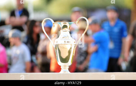 Rancho Mirage, California, USA. 2nd Apr, 2017. the championship trophy during the final round of the ANA Inspiration - Stock Image