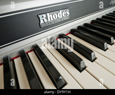 A Fender Rhodes Piano keyboard - Stock Image