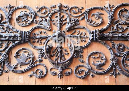 Portal details of Notre Dame de Paris, France - Stock Image