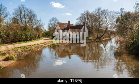 flatford mill suffolk east anglia - Stock Image