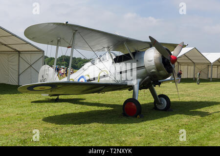 Gloster Gladiator a British single seat fighter aircraft and the last biplane used by the RAF in front line service - Stock Image