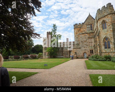 Historic medieval grounds and buildings of Penshurst Place. - Stock Image