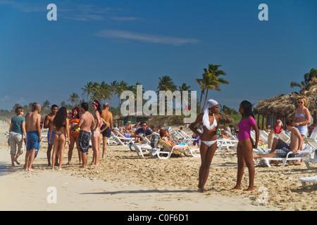 Teenager at Playa del Este, Santa Maria Del Mar, near Havanna Cuba - Stock Image