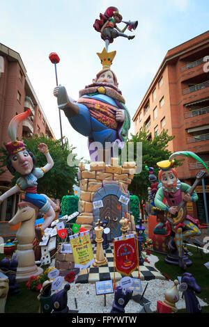 One of the effigies created for the Fallas Fiesta in Gandia Spain - Stock Image