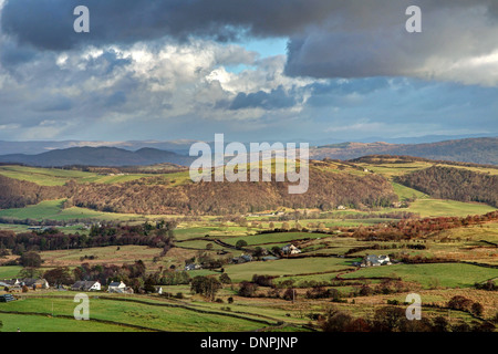 Valley overlooking Lowick Common - Stock Image