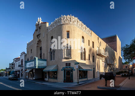 Lensic Theater, Santa Fe, New Mexico USA - Stock Image