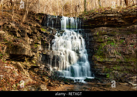 Hurst Falls at Cove Spring Park in Frankfort Kentucky - Stock Image
