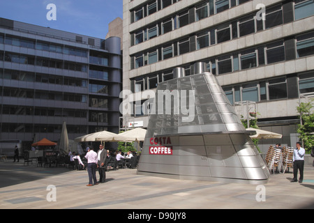 Costa Coffee shop at Ropemaker Place in the City of London - Stock Image