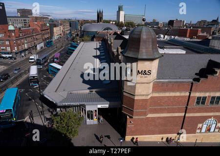 Newcastle-upon-Tyne, NE England city. Haymarket area. Marks & Spencers. - Stock Image