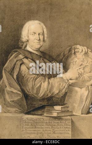 Portrait of Cavaliere Francesco Maria Niccolò Gabburri; Domenico Ferretti, Italian, 1692 - about 1769; 1740; - Stock Image