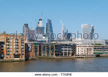 Architecture of the City of London skyline: UK - Stock Image