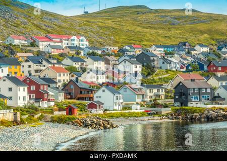 Village Of Honningsvag, Norway - Stock Image